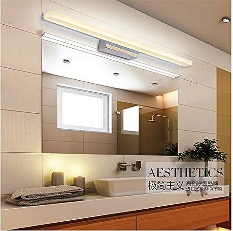 SJMM LED plus de miroir de 0,4 m 1,5 m~AC90-260V bref moderne lampe murale Cristal Cosmétique Luminaires salle de bain imperméable,60cm,9W Blanc Chaud (2700-3500K)(#JD-0375)