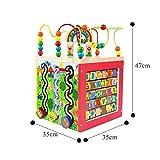 DASGF Perlen Labyrinth,Pearl Labyrinth, Cube Pearl Labyrinth Bildung Pearl Labyrinth, Puzzle-BäLle FüR Mehr Als 12 Monate Kinderspielzeug, Cube-Spielzeug.