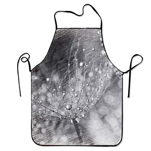 BBQ Apron - Goldfish Water Lily - Best Birthday Gift - Grill Chef Black Aprons Men Women - Adjustable Barbecue Bib - Funny Grilling Size 72CM x 52CM -