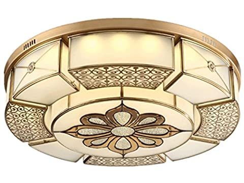 The Copper Lamp Ceiling Lamp for Living Room Bedroom Kitchen Diameter 45CM 144W Chinese Style [Energy Class A++] diameter 80cm