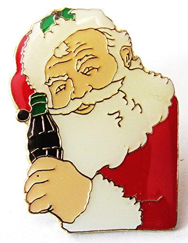 Flasche Cola Coca Kostüm - Coca Cola - Weihnachtsmann mit Flasche Coke - Pin 35 x 26 mm