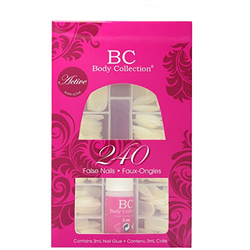 Body Collection 240 Active False Nails Contains 3ml Nail Glue