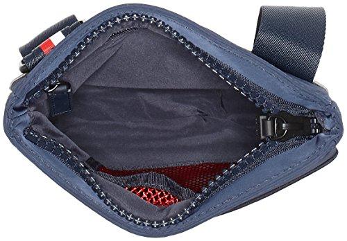 Tommy Hilfiger Herren Two Tone Mini Flat Crossover Schultertasche, 2.5 x 23 x 21 cm Mehrfarbig (Tommy Navy)