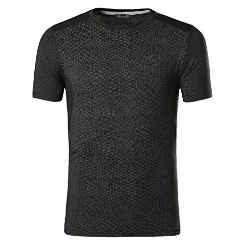 Men's Summer Designer Casual Short Sleeves Tee Shirts Black