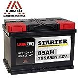 LANGZEIT Autobatterie 12V 85Ah ersetzt 72Ah 74Ah 75Ah 77Ah 80AH