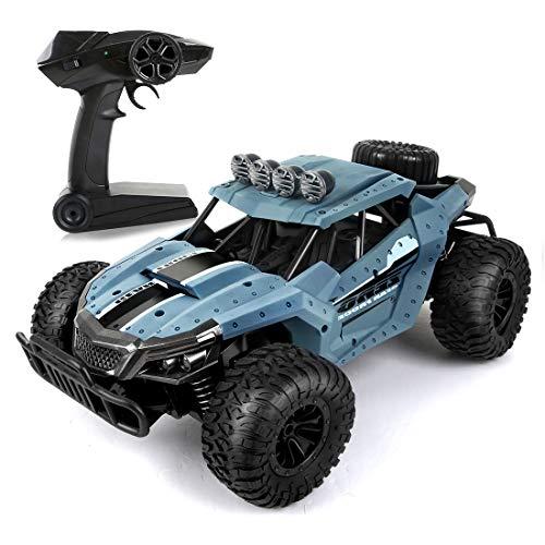 LBLA RC Ferngesteuertes Auto, 2,4 GHz Racing Buggy Auto Offroad Elektro High Speed Monster Truck, 20km/h RTR Schnelle Auto,Radio gesteuertes Auto für Erwachsene und Kinder (Blau)