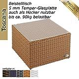 Alu- Beistelltisch inkl. Plexiglasplatte - 2