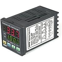 Onepeak Termómetro digital automático del controlador de temperatura LED PID RRR 2 Salida del relé de