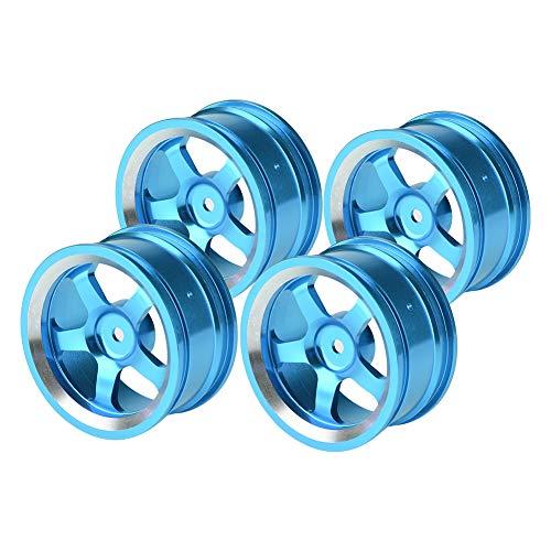 4 STÜCKE RC Radnaben, 1:10 Aluminiumlegierung Reifen Felgen Hubs RC Zubehör für RC Auf Straße Drift Car 5 Farben(Himmelblau)