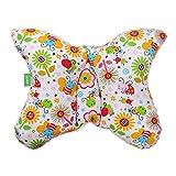 LULANDO Babykissen für einen gesunden Schlaf 40x30 cm, atmungsaktives Kissen für Kinder, ergonomisches Babykopfkissen, Kuschelkissen Made in EU, Kinderwagen-Kissen mit Tasche Pink - Bees