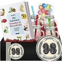 Geschenkidee 98. Jubiläum | Powerdrinks DIY-Geschenk | Zum 98 Geburtstag Mama