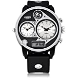Fafada Mens LED Military Digital Quartz Sport Wrist Watch Day Date Chronograph
