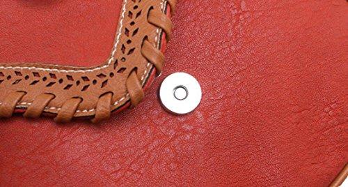 Sacchetto Donne Vento Nazionale Piccolo Sacchetto Di Spalla Cavità Signora Di Modo Pacchetto Quadrato Pacchetto Diagonale Brown