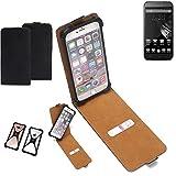 K-S-Trade Flipstyle Case Homtom HT6 Schutzhülle Handy Schutz Hülle Tasche Handytasche Handyhülle + integrierter Bumper Kameraschutz, schwarz (1x)