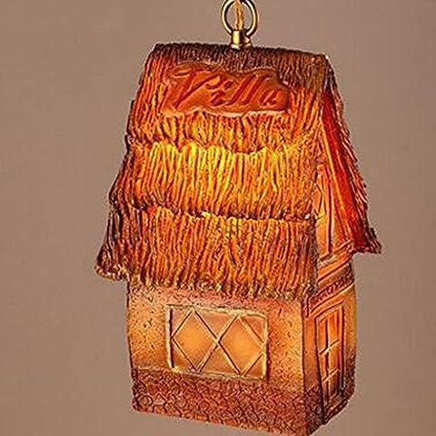 casa sull'albero creativo resina intaglio lampadario Ristorante Bar Corridoio lampadario [Efficienza: A +] - 12 Intaglio Bar