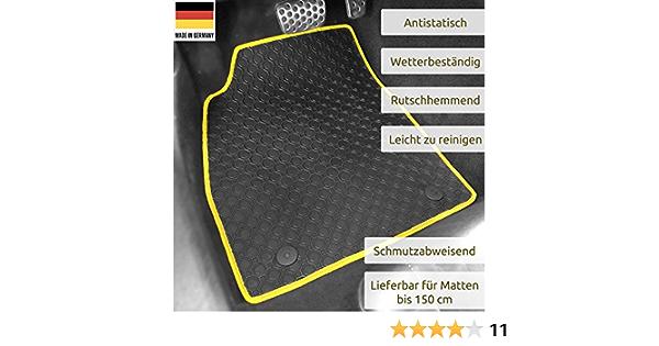 Gummimatten Auto Fußmatten Schwarz Passgenau Rand Band Gelb Os 4607 Auto