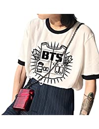 Damen Sommer BTS Bangtanboys kurzärmelig Shirt BTS Fans
