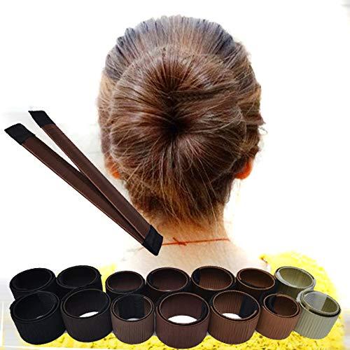 Buy-To DIY Magie Haarknoten Maker Für Frauen Synthetische Perücke Donut Stirnband Haarband Zöpfe Fleischklöschen Werkzeuge Französisch Disk Haarschmuck,026# (Pairing Kostüm)