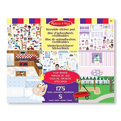 rbenutzbarer Stickerblock - Spielhaus (175 Sticker) ()
