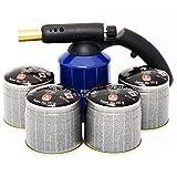 Kit lampe a souder PG 400 M coque acier piezo + 4 cartouches. Bouteille gaz 190g avec sécurité stop gaz.