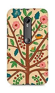 Amez designer printed 3d premium high quality back case cover for Motorola Moto G3 (Tree drawing art)