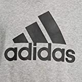 adidas Jungen Logo Hood Kapuzen-Sweatshirt, Medium Grey Heather/Black, 164