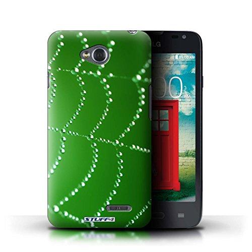 Kobalt® Imprimé Etui / Coque pour LG L65/D280 / Rouge conception / Série Toile d'araignée Perles Vert
