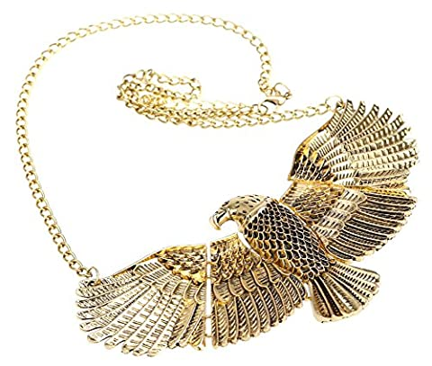 SaySure - Metal Texture Retro Exaggerated The Fly Eagle Collar Chain Necklace