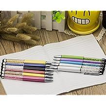 11pcs cristal bolígrafo con elementos de Swarovski pantalla táctil estacionaria