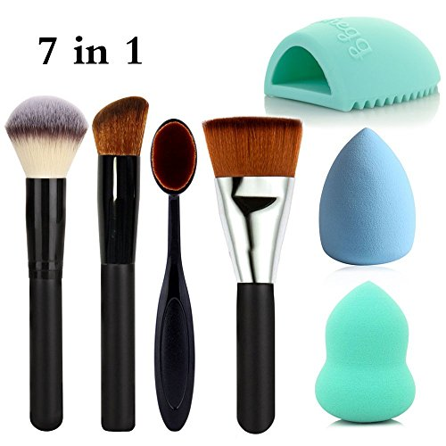 travelmall-7-piece-full-makeup-brush-set-with-foundation-brushpowder-brush-oval-toothbrush-curve-bru