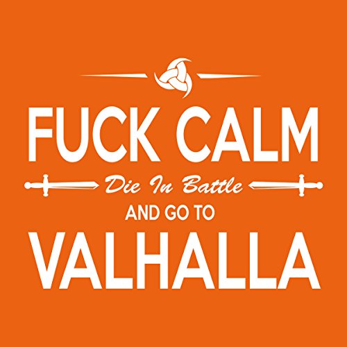 Viking Go To Valhalla Men's T-Shirt Orange