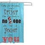 COOSUN Inspirierend Zitat Print Duschvorhang, Polyester-Gewebe Duschvorhang, 66 x 72-inch 66x72 Mehrfarbig