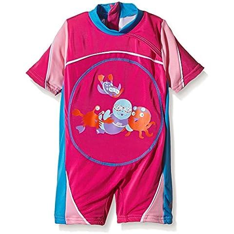 Zoggs Miss Zoggy Swimfree Floatsuit - Body de competición para niña, color rosa, talla 1-2