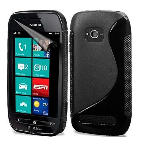 Nokia Lumia 710 Magic Brand S-Line Black Soft Silicon Back Cover Case  available at amazon for Rs.249
