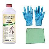 1 Liter Salmiakgeist zum Entfetten, Reinigen und Anlaugen inkl. Microfasertuch zum Auftragen und Nitril Handschuhe