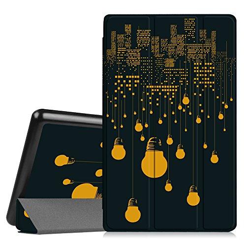 Fintie Fire HD 8 Coque Étui Housse - Ultra Slim étui Housse Coque avec Support Ultra-Mince et Léger avec mise en veille automatique pour Toute nouvelle tablette Fire HD 8 (6ème Génération, 2016), Noir Z -All Nighter