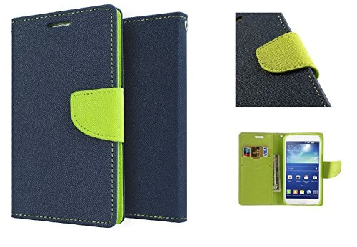 YuniKase Xiaomi Redmi 3S Prime Wallet Flip Cover Case - (Blue,Green)