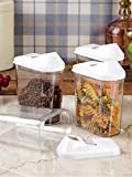 Best Simple Food Storage Containers - Kitchen Khajana™ Cereal Dispenser Easy Flow Storage Jar Review