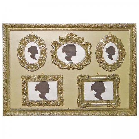 Marco de fotos barroco juego de 6 pcs, plateado