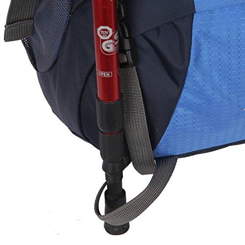 HWJDK 60L Wasserdichte Outdoor Sport Wandern Trekking Camping Reisen Rucksack Pack Bergsteigen Klettern Rucksack Blue