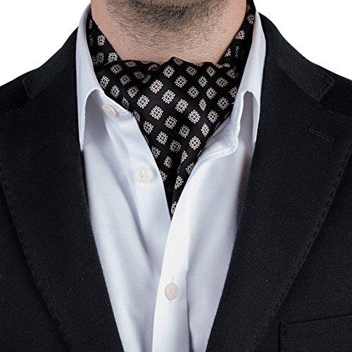 51g1ppVzctL UK BEST BUY #1Silk Mens Cravat Ascot Luxury Tie / Scarf   Paisley / Jacquard… price Reviews uk