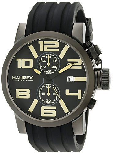 Haurex Italy Men's 6N506UTM TURBINA II Analog Display Quartz Black Watch