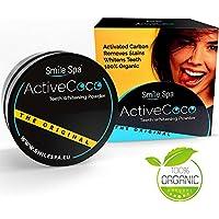 SMILE SPA Aktivkohle Pulver aus der Kokosnuss | ActiveCoco Activated Charcoal (active carbon coco coal) | Zur Zahnaufhellung | natürlich, ohne Chemikalien | Bleaching | Weiße Zähne | Active Coco | Teeth whitening