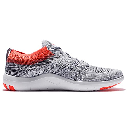 Nike W Free Tr Focus Flyknit, Scarpe da Escursionismo Uomo pure platinum total crimson 004