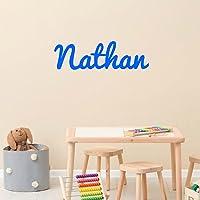 Stickers personnalisé prénom 8 polices d'écritures au choix. Décoration mur chambre enfant/bébé. 14 couleurs au choix.
