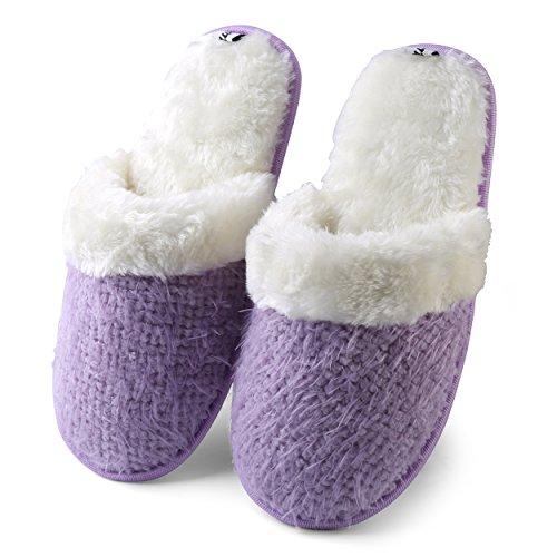 AerusiWeaver Knitt - Sandali con Zeppa donna Purple