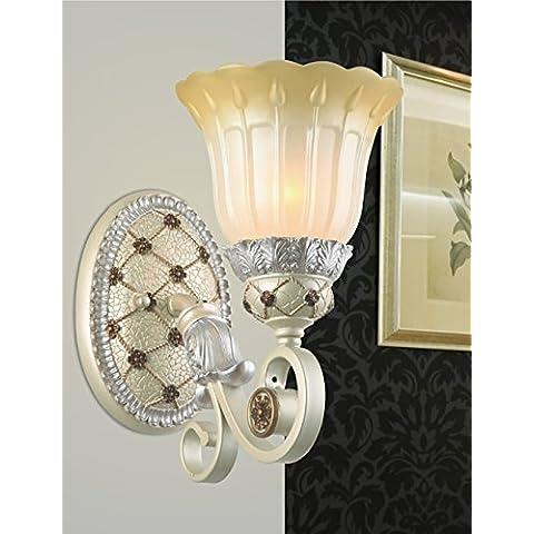 Continental Garden retro talla de resina de cristal simple lámpara de pared del pasillo Habitación Sala Sala de Estudio Restaurante Baño lámpara de la esquina pared del balcón