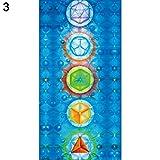 Glareshop Rainbow 7Chakra Mandala Bohemia Decke