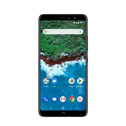 "BQ Aquaris X2 Pro - Smartphone de 5.65"" (Wi-Fi, 4 GB de RAM, memoria interna de 64 GB, Bluetooth 5.0, dual cámara 12 MP y 5 MP, Android 8.1.0 Oreo), color midnight negro"