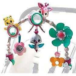 Tiny Love Arche d'activités Articulée pour bébé, Clip ajustables convenant à la plupart des poussettes, Dès la naissance, Collection Princesse